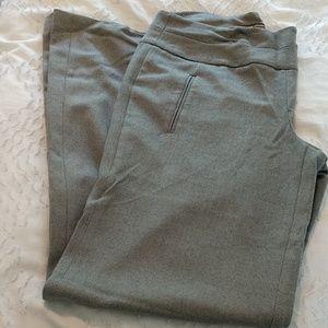 Dove gray wide leg dress trousers